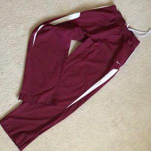 Nike Fit Storm Athletic Burgundy Men's Pant Sz L
